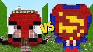 CASA DO HOMEM ARANHA vs CASA DO SUPERMAN - Casa vs Casa ( Jazz e Pedro )