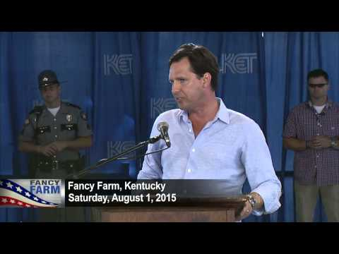Incumbent Candidate for Ky. State Auditor Adam Edelen - D | Fancy Farm 2015 | KET