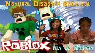 Roblox Natural Disaster Survival Shania Dan Lia