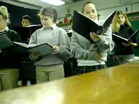redemptorist high school choir (snow)