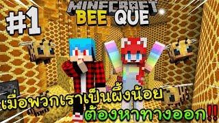 Minecraft Beeque #1 - เมื่อกลายเป็นผึ้งน้อยต้องหาทางออกจากรัง Ft.KNCraZy