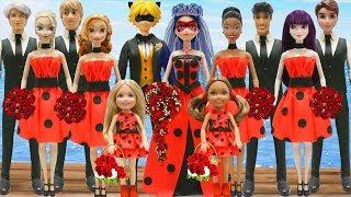 Play Doh Wedding Ladybug & Cat Noir I Disney Princess Belle & Beast  Compilation