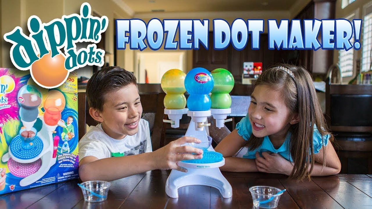 HOW TO MAKE DIPPIN DOTS AT HOME with the FROZEN DOT MAKER!!!  Flashback Week #5