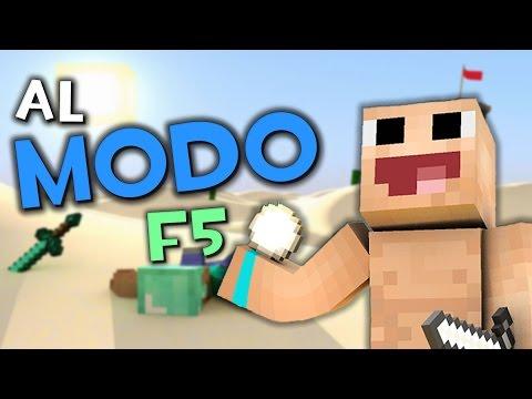 LA LOCURA DEL MODO F5   Minecraft Skywars