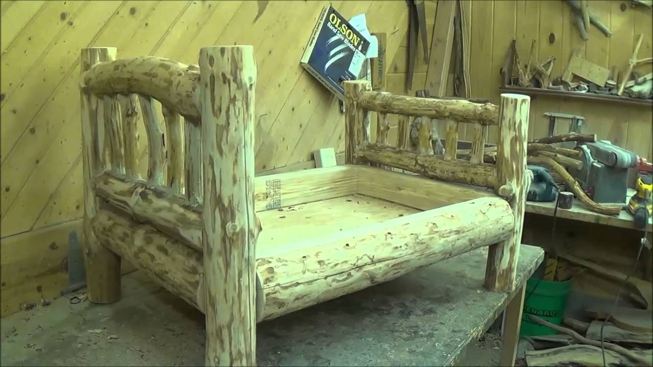 Building The Log Dog Bed. - YouTube