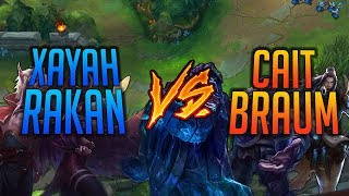 Xayah Rakan VS Cait Braum • Diamond ADC Gameplay  SOLOQ League of Legends ITA