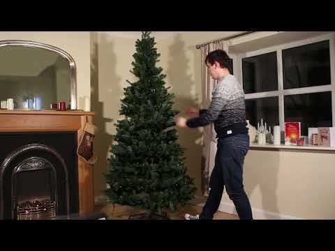Luxury Pre-Lit Latvian Pine PE LED Pop-Up Christmas Tree