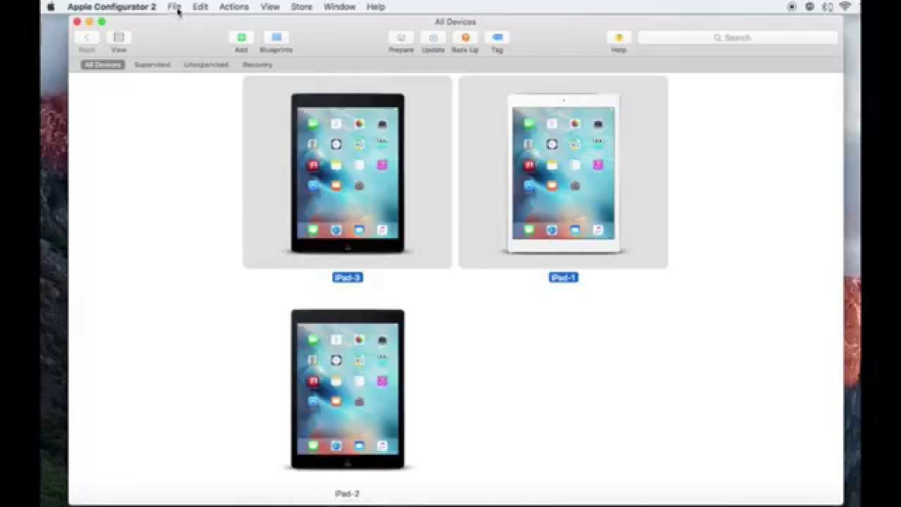 Apple Configurator 2 - How to Make And add a WiFi Profile To Supervised  Devices