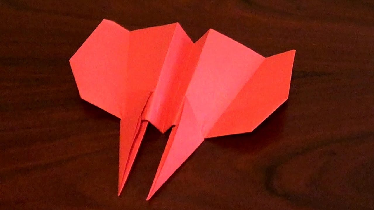 Best Paper Airplane Tutorial - How to make the Hawkeye Paper ...