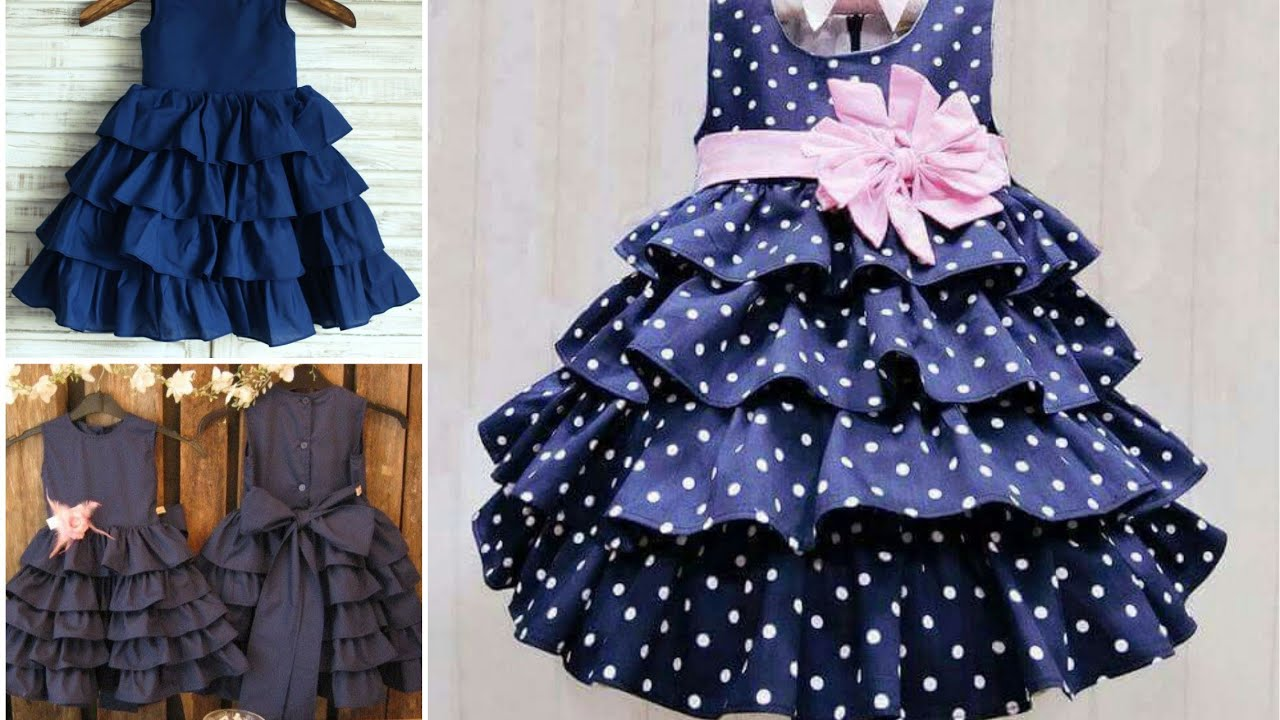 Download Baby girl dress design...baby frocks summer design...latest stylish dress frocks design for girl...