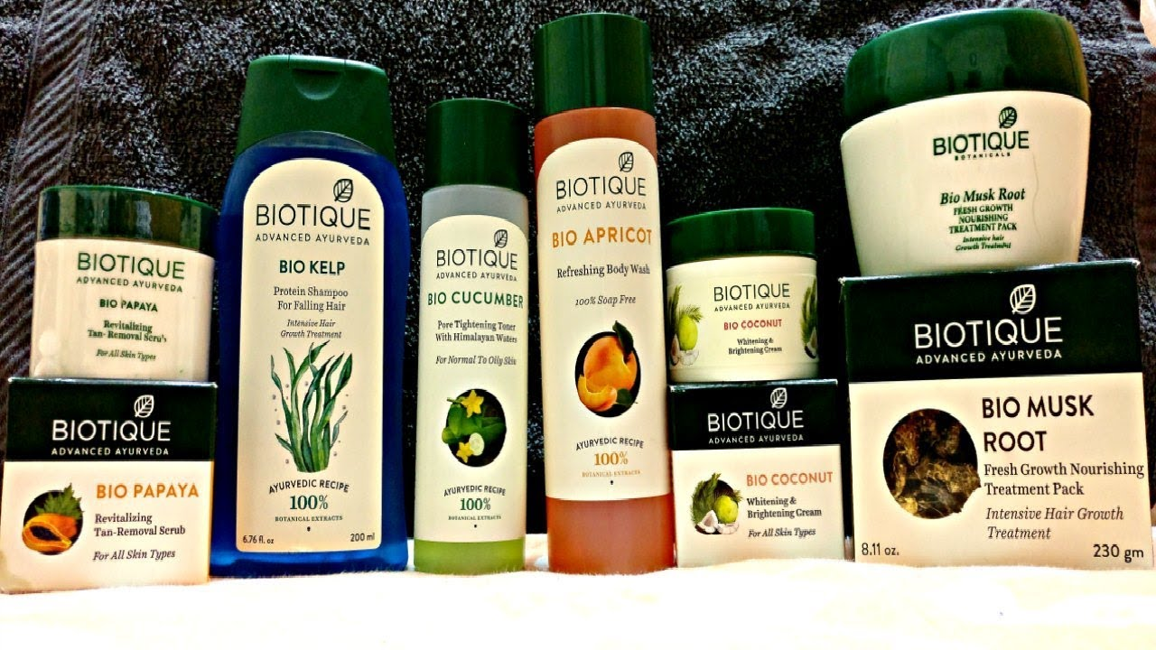 Biotique Products haul + Review   Affordable Ayurvedic Haircare & Skincare  Range - YouTube