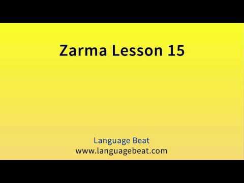 Learn Zarma   :  Lesson 15  -  Zarma  Phrases for Beginners
