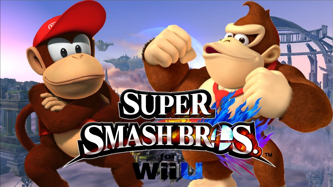 super smash bros wii u donkey kong y diddy kong youtube