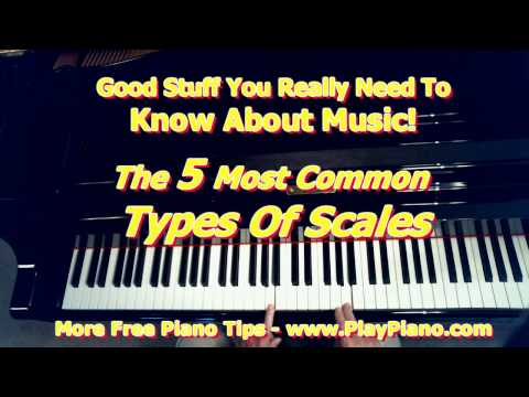 5 Most Common Types Of Musical Scales