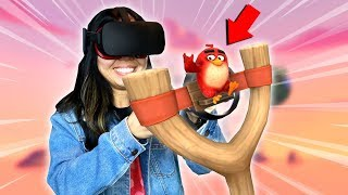 SLINGSHOT ANGRY BIRDS IN FIRST PERSON! - Angry Birds VR: Isle Of Pigs Review