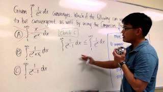 Understand Comparison Theorem For Improper Integral Ex1