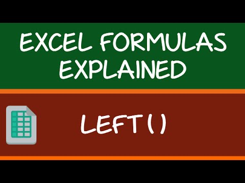 LEFT Formula in Excel