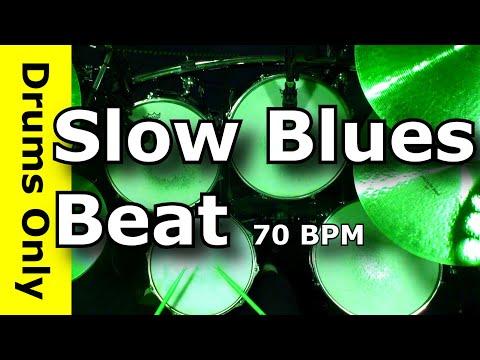 12/8 Slow Blues Drum Beat 70 BPM  - JimDooley.net
