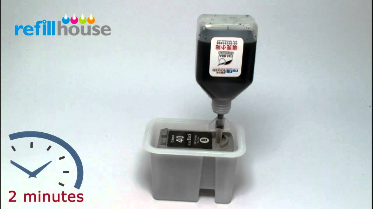 How To Refill Canon Pg 40 Pg 50 Inkjet Cartridge Aut