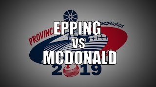 2019 ONT Tankard - Epping vs McDonald