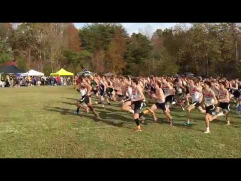 Cross Country Race Start at Fork Union Military Academy