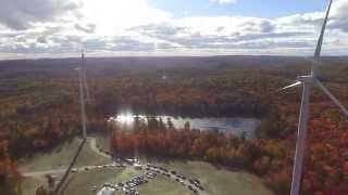 Wind Turbine Cermony Day Colebrook CT