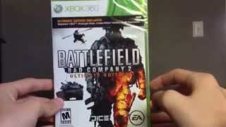 Battlefield Bad Company 2 Ultimate Edition Unboxing (Xbox 360)
