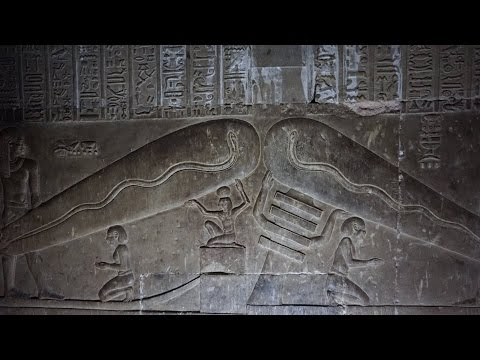 LIGHT BULB RELIEF AT HATHOR'S TEMPLE WITH STEPHEN MEHLER