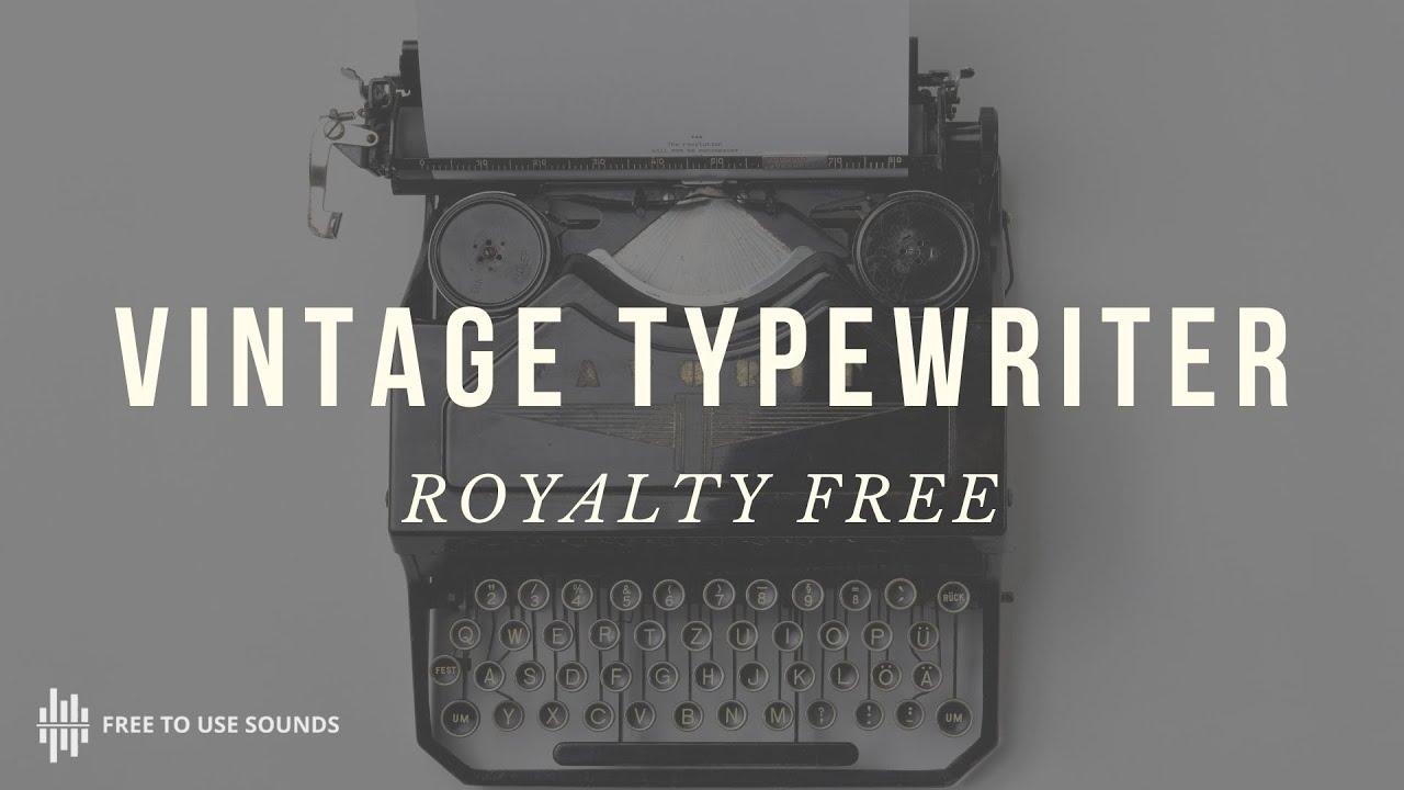 ROYALTY FREE TYPEWRITER SOUND EFFECTS! ORIGINAL 1960 SMITH & CORONA  TYPEWRITER SOUNDS