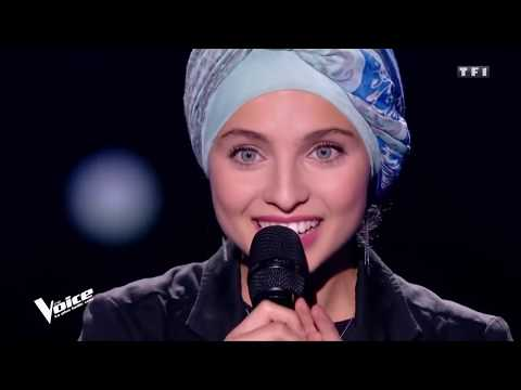 Mennel Ibtissem the voice france hijab 2018 judges with Arabic take of Leonard Cohen Hallelujah