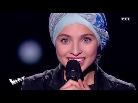 Mennel Ibtissem the voice france hijab 2018 judges with Arabic take of Leonard Cohen Hallelujah