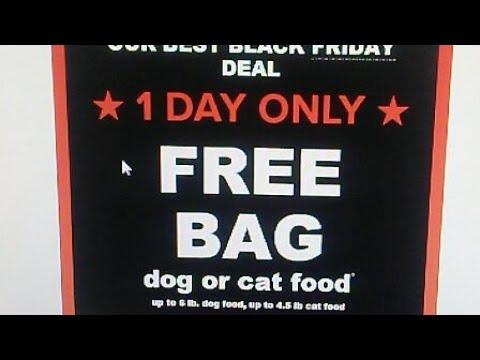 Free Dog / Cat Food 1 Day Deal PetSmart Black Friday