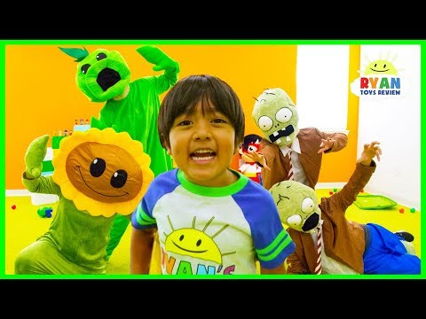 Plants vs Zombies Garden Warfare In Real Life Pretend Play with Ryan ToysReview thumbnail