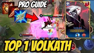 TOP 1 VOLKATH PRO GUIDE - BEST TIPS FOR VOLKATH | AoV | 傳說對決 | RoV | Liên Quân Mobile