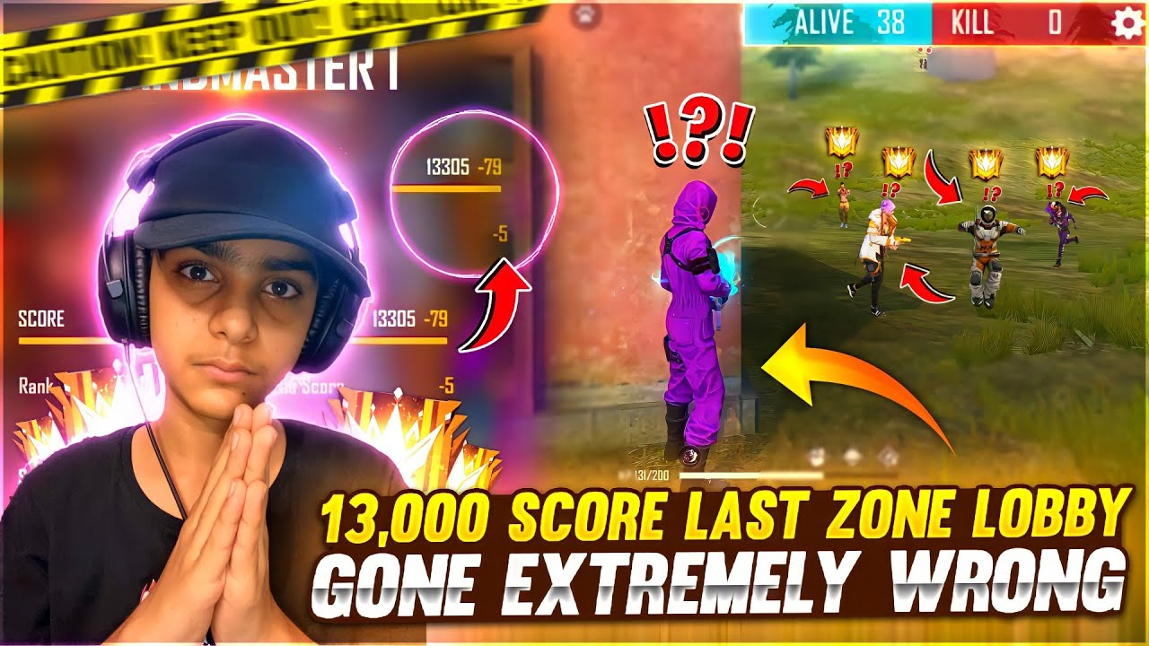 Unexpected Gameplay On Grandmaster 13000 Score Lobby 🤬 Gone Extremely Wrong😢❤️  - Garena Free Fire