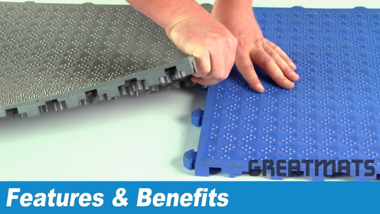 Industrial Anti Fatigue Flooring - Comfort Matta Solid Surface Tiles ...