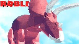 Dinosaur Simulator (Roblox)-NEW Triceratops, INSANA Survival! -(#92) (EN-BR)