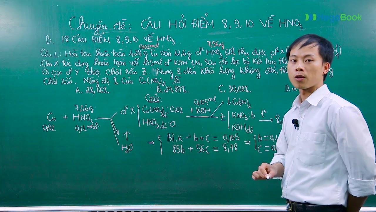 Mega Hóa Học 2018- Chinh phục điểm 9,10 đề thi THPT QG 2018 bài tập HNO3