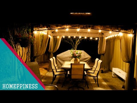 OUTDOOR DECOR !!! 30+ Nice Gazebo Decorating Ideas With Light And Fabric - HOMEPPINESS