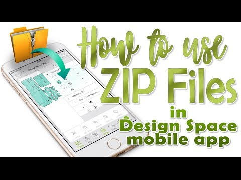 ZIP Files and Design Space Mobile App - (iOS devices only)