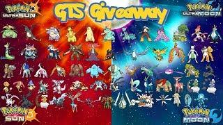 Pokémon Sun/Moon & Ultra GTS Giveaway - All Shiny Legends, Starters, Ultra Beasts | Finale! | R1