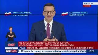 Konferencja prasowa premiera Mateusza Morawieckiego oraz min. Łukasza Szumowskiego