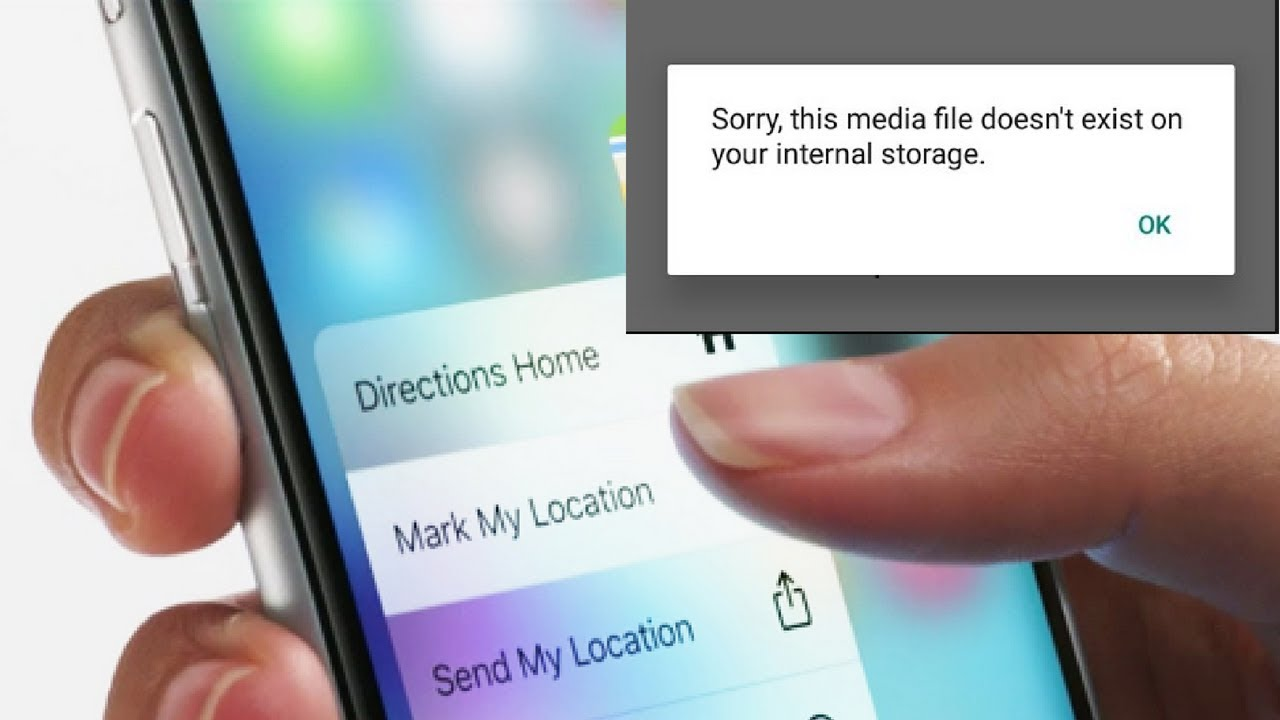 Sorry this Media file is not exits in your Phone How to fix this - YouTube