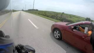 Road rage and getting assaulted.
