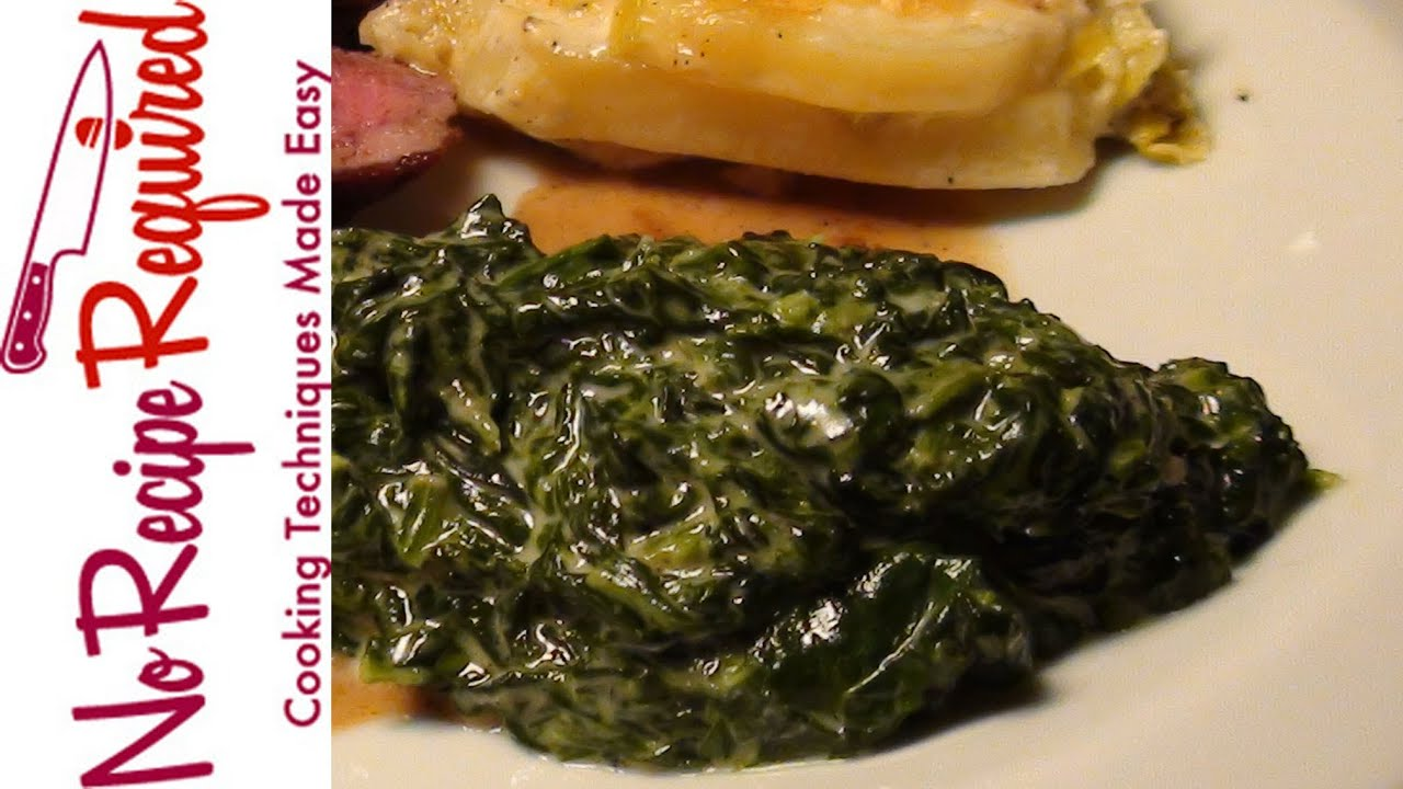 how to make creamed spinach without cream