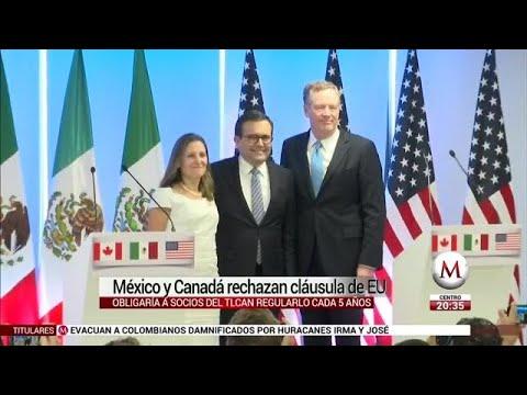 México y Canadá rechazan cláusula de EU para extinguir TLCAN - 동영상