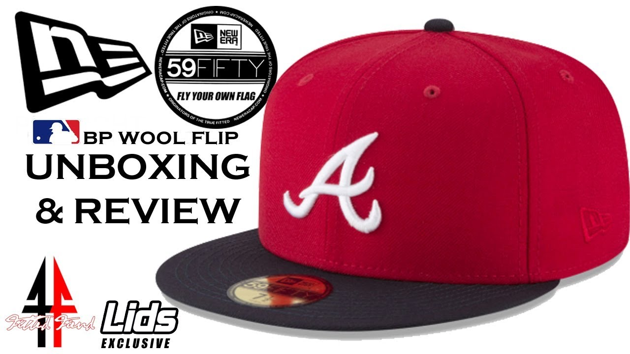 LIDS NEW ERA EXCLUSIVE !!! MLB BATTING PRACTICE WOOL FLIP !!! FITTED FIEND  EP  44