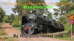 """""""Höyryveturimatkat 1009"""" rides on the Lahti - Loviisa railway line."""