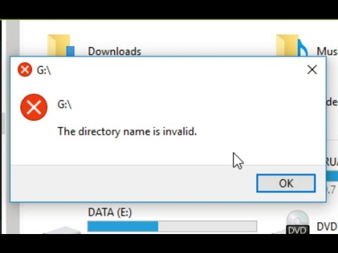 "Fix Error ""The directory name is invalid"""