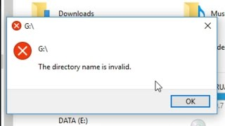 """Fix Error """"The directory name is invalid"""""""